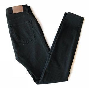 "Madewell 9"" High Rise Skinny Black Jeans 25"